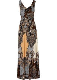 Макси-платье (черный/бежевый) Bonprix