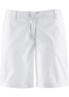 Бермуды-стретч (белый) Bonprix