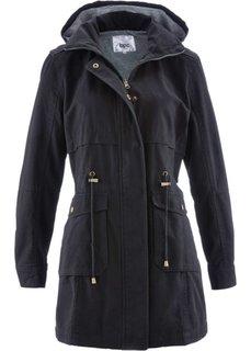 Куртка-парка на трикотажной подкладке (черный) Bonprix