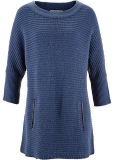 Структурный пуловер дизайна Maite Kelly с рукавом 3/4 (индиго) Bonprix