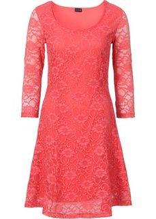 Платье с кружевом (омаровый) Bonprix