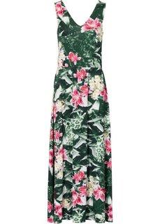 Платье макси (с узором) Bonprix