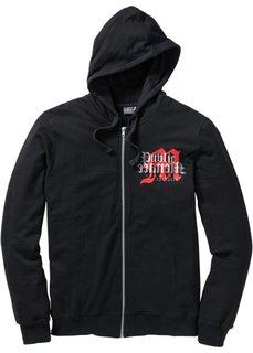 Трикотажная куртка Slim Fit (черный) Bonprix