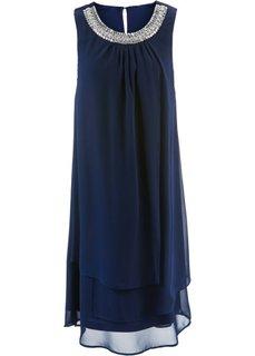 Платье с аппликацией (темно-синий) Bonprix