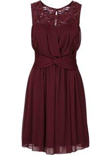 Шифоновое платье (бордовый) Bonprix