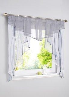 Короткая штора Вена, гофрированная тесьма (белый/серебристый) Bonprix
