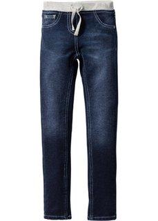 Очень мягкие джинсы с эластичным поясом (темно-синий «потертый») Bonprix