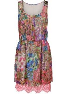 Платье с кружевной вставкой (ярко-розовый/разные цвета/с узором) Bonprix