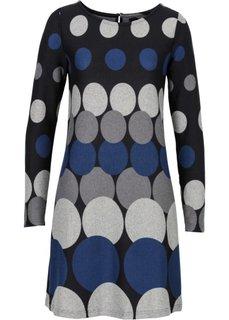 Вязаное платье с кругами (черный/темно-синий/темно-серый/светло-серый) Bonprix