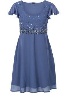 Шифоновое платье (синий) Bonprix