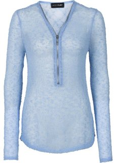 Пуловер на молнии (нежно-голубой) Bonprix