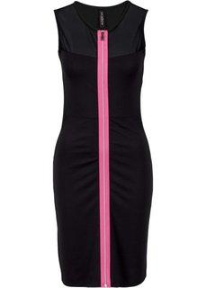 Платье с застежкой на молнию (черный) Bonprix
