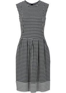 Платье (черный/белый с узором) Bonprix