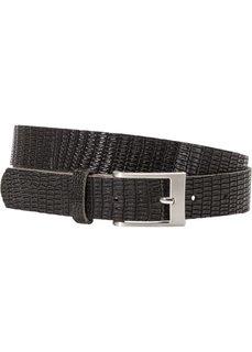 Кожаный ремень со змеиным тиснением (черный) Bonprix