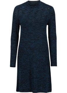 Трикотажное платье (серо-синий меланж) Bonprix