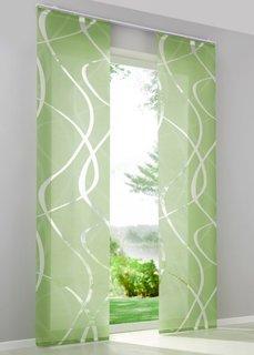 Японская штора Брюгге (1 шт.), Шина с лентой велкро (зеленый) Bonprix