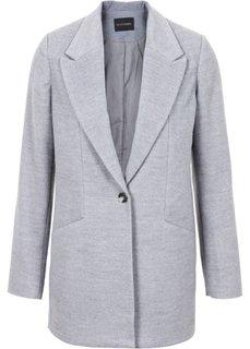 Жакет в дизайне под шерстяной (серый меланж) Bonprix