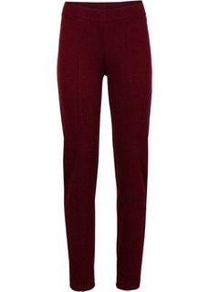 Эластичные жаккардовые брюки (красно-коричневый/черный в «елочку») Bonprix