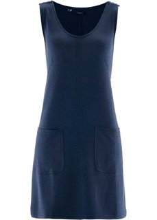 Трикотажное платье (темно-синий меланж) Bonprix