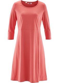 Трикотажное платье с рукавом 3/4 (коралловый) Bonprix