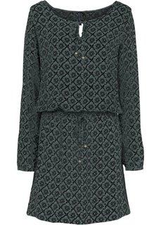 Платье (зеленый/черный с принтом) Bonprix