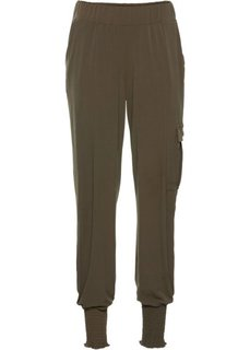 Трикотажные брюки (темно-оливковый) Bonprix