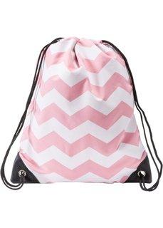 Детский рюкзак-мешок Звезды (2 шт.) (синий/белый + розовый/белый) Bonprix
