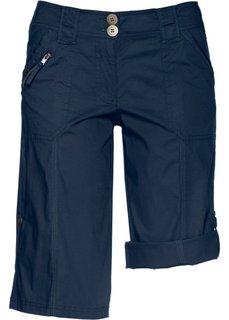 Бермуды с заворачивающимися штанинами (темно-синий) Bonprix