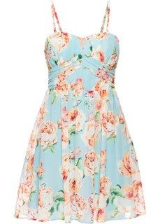Шифоновое платье (полярно-мятный в цветочек) Bonprix