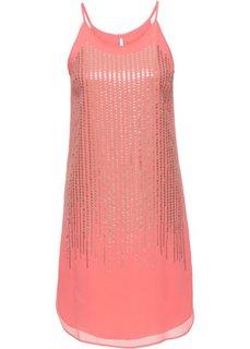 Платье с пайетками (розовый/золотистый) Bonprix