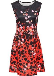 Платье из материала под неопрен (красный/черный с узором) Bonprix
