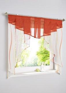 Короткая штора Вена, гофрированная тесьма (кремовый/терракотовый) Bonprix
