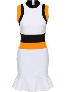 Платье (черный/белый/зеленый) Bonprix