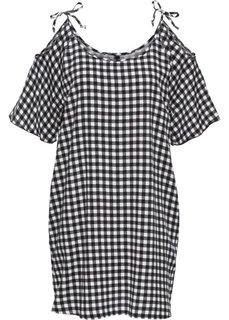 Платье с вырезами (черный/белый с рисунком) Bonprix