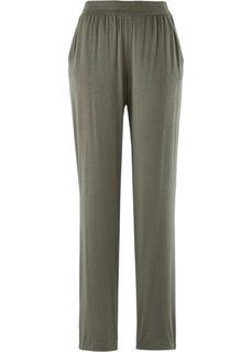 Трикотажные брюки-стретч (темно-оливковый) Bonprix