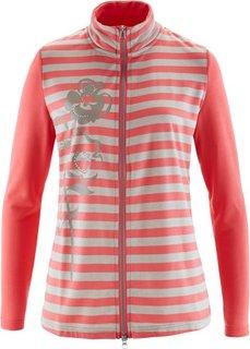 Трикотажная куртка (ярко-розовый/серо-коричневый меланж) Bonprix