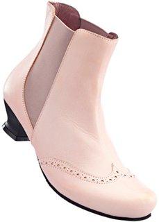 Удобные кожаные полусапожки (дымчато-розовый) Bonprix