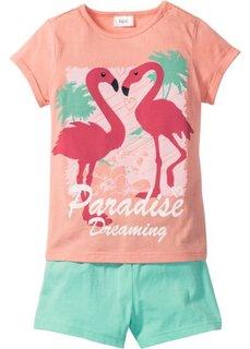 Пижама с шортами (2 изд.) (розовый/мятный) Bonprix