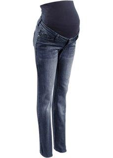 Мода для беременных: джинсы с прямыми узкими брючинами (темно-синий «потертый») Bonprix