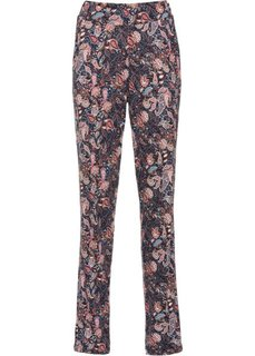 Трикотажные брюки (темно-синий с узором пейсли) Bonprix