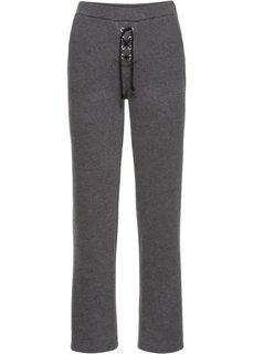 Широкие брюки (антрацитовый меланж) Bonprix