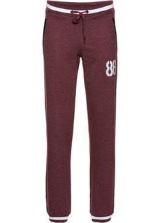 Функциональные трикотажные брюки (темно-бордовый меланж) Bonprix