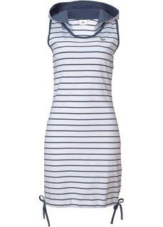 Трикотажное платье (индиго/белый в полоску) Bonprix
