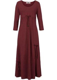 Трикотажное платье макси (кленово-красный) Bonprix