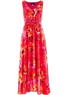 Платье макси (горячий ярко-розовый с рисунком) Bonprix