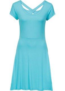 Трикотажное платье (аква) Bonprix