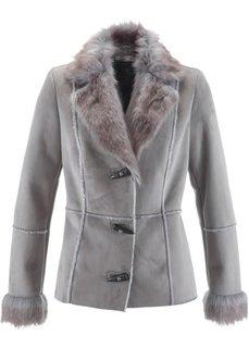 Куртка-дубленка (серый) Bonprix