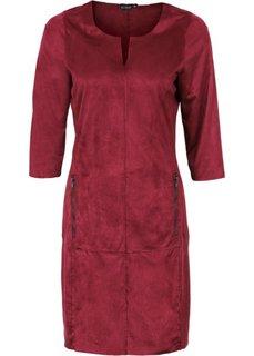 Платье из искусственной замши (темно-ягодный) Bonprix
