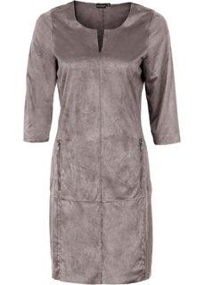 Платье из искусственной замши (антрацитовый) Bonprix