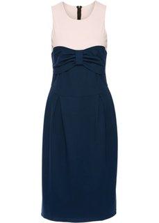 Платье от Marcell von Berlin for bonprix (темно-синий/бежевый)